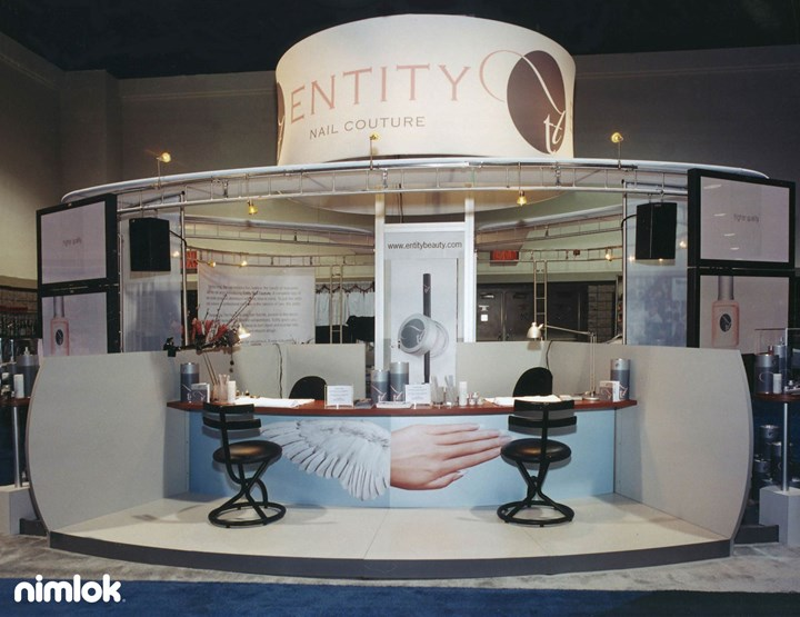 Entity Nail Couture - 20x20 - custom modular exhibit