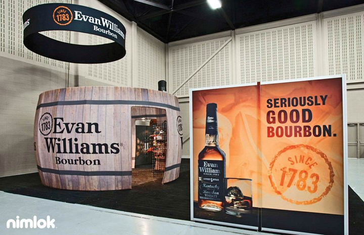 Evan Williams - 20x20 - custom exhibit