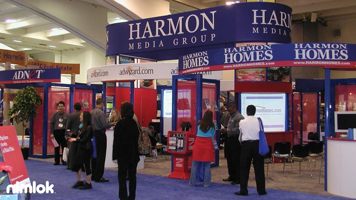 Harmon homes custom modular exhibit case study nimlok for Housse 30x50