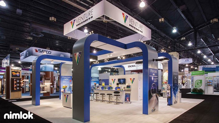 Venture Lighting - 40x40 - custom exhibit