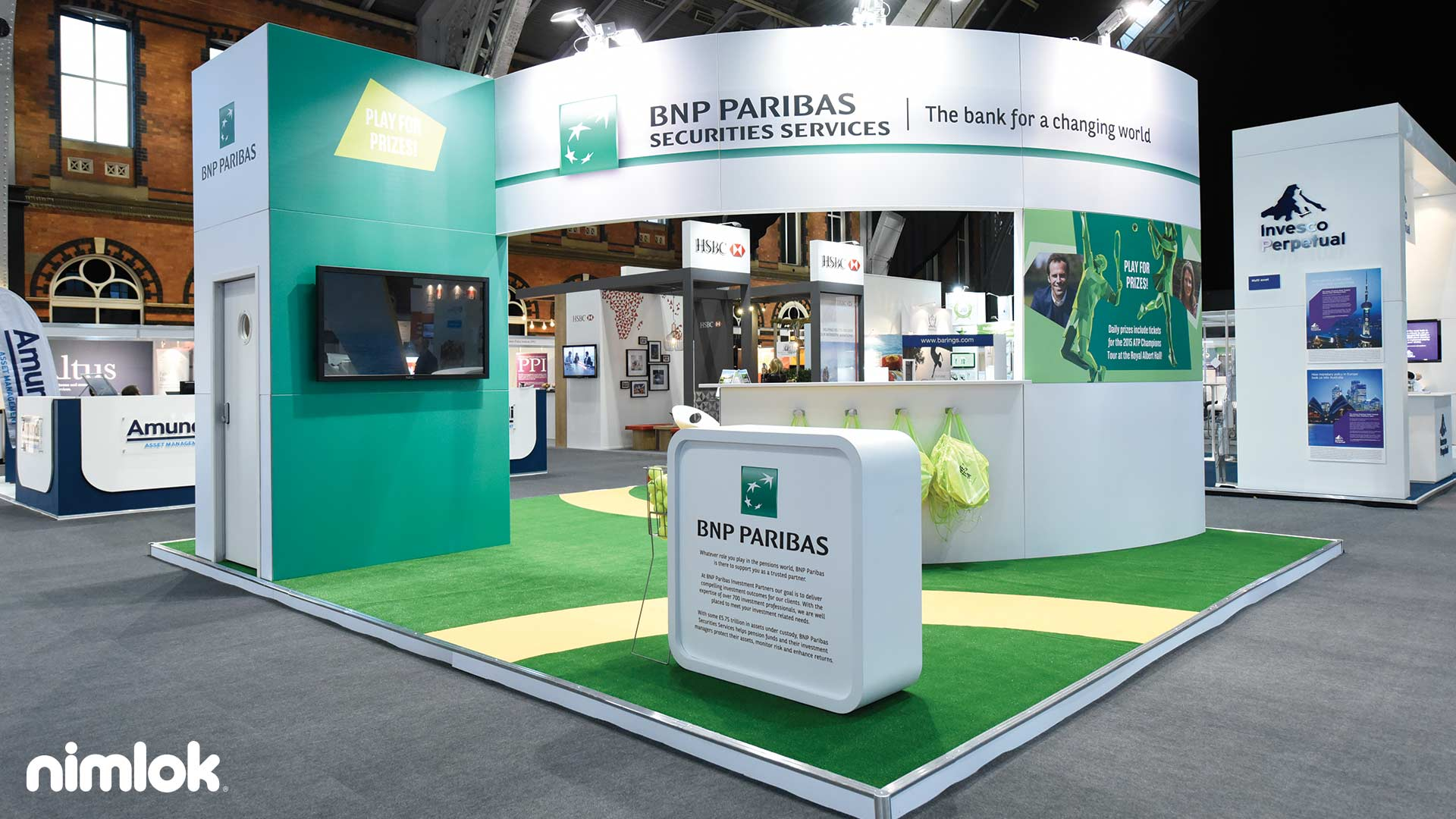 Corner Exhibition Stands Tallahassee : Nimlok exhibits bnp paribas