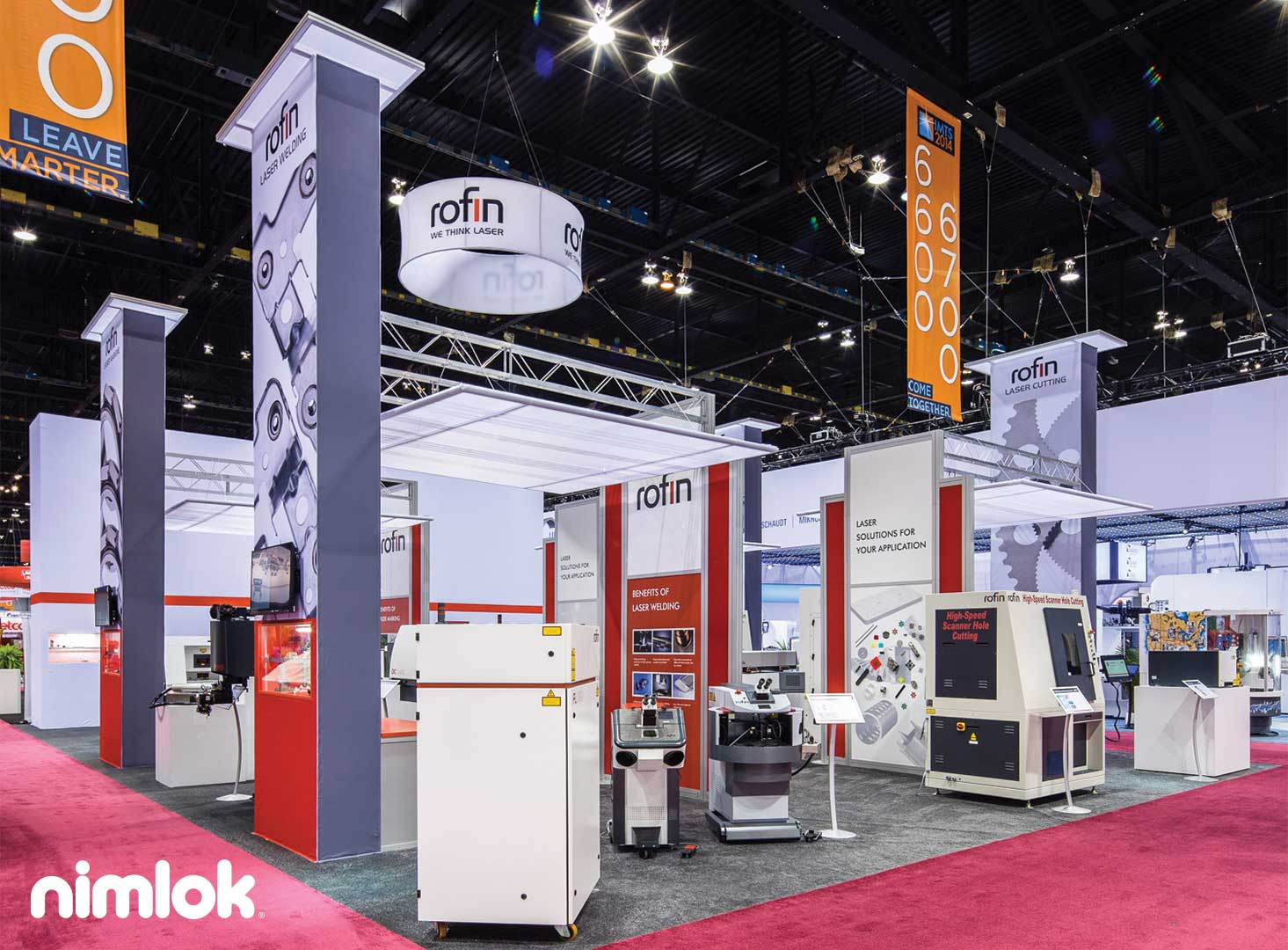 Rofin - 40x40 - custom modular exhibit