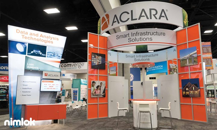 Aclara - 40x40 - custom modular exhibit