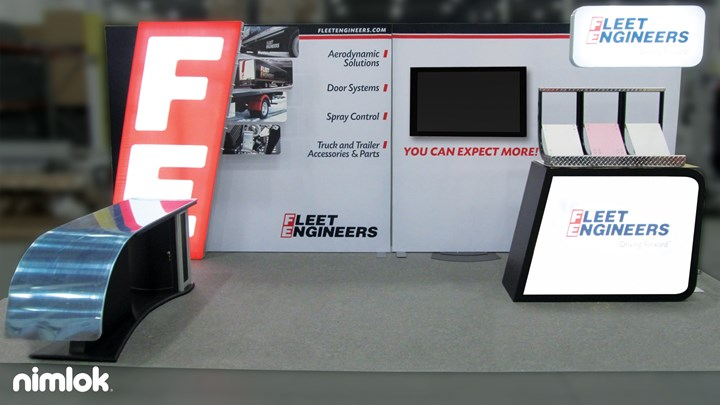 Fleet Engineers - 10x20 - custom modular exhibit