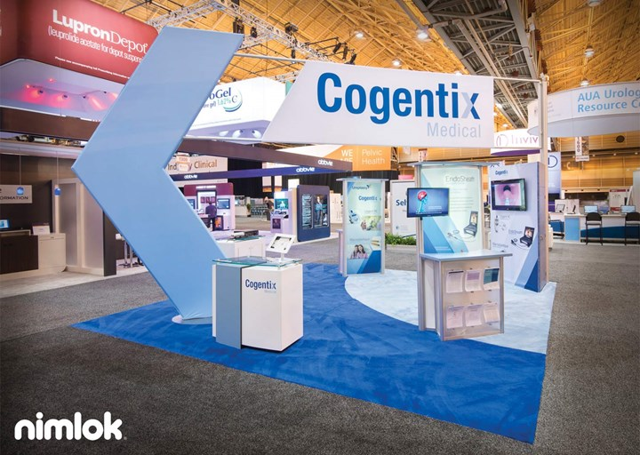 Cogentix - 20x20 - custom modular exhibit