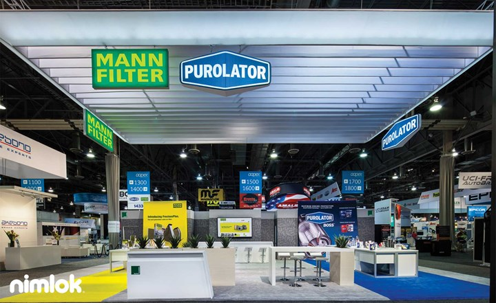 Purolator Filters - 40x50 - custom modular exhibit