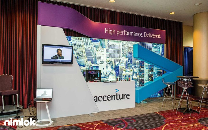 Accenture - 10x20 - custom modular exhibit