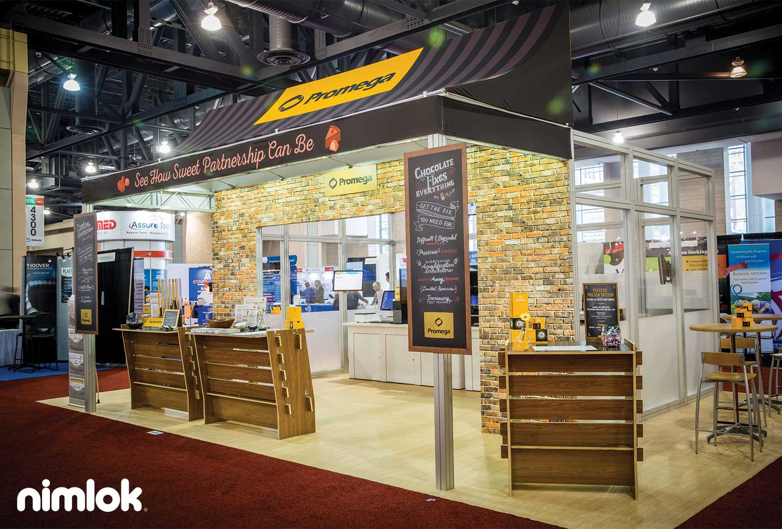 Trade Show Booth Builders : Nimlok exhibits promega