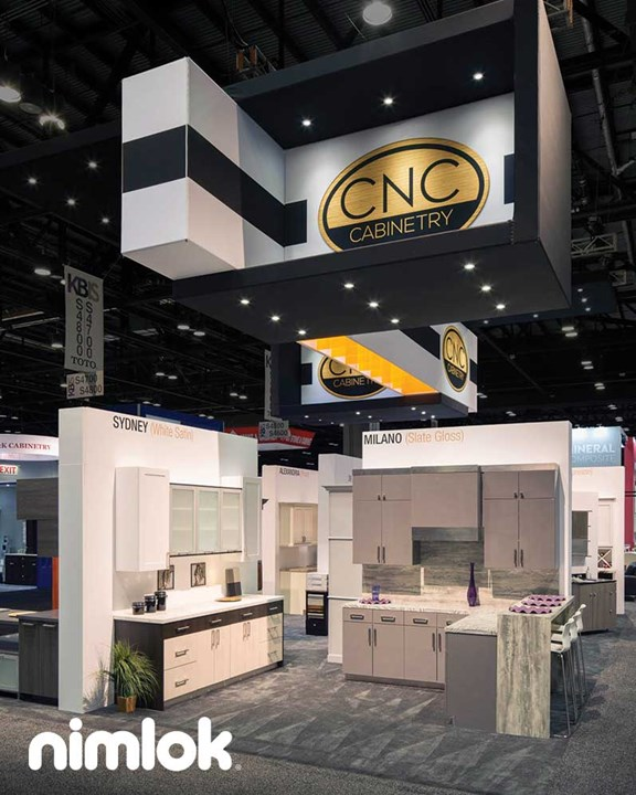 CNC Cabinetry - 20x50 - custom modular exhibit