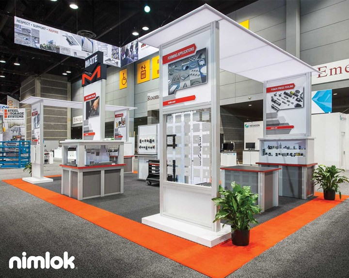 Mate Precision Tooling - 20x40 - custom modular exhibit