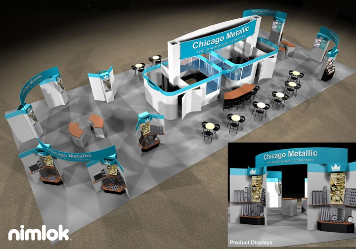 Chicago Metallic - Larger - custom modular exhibit