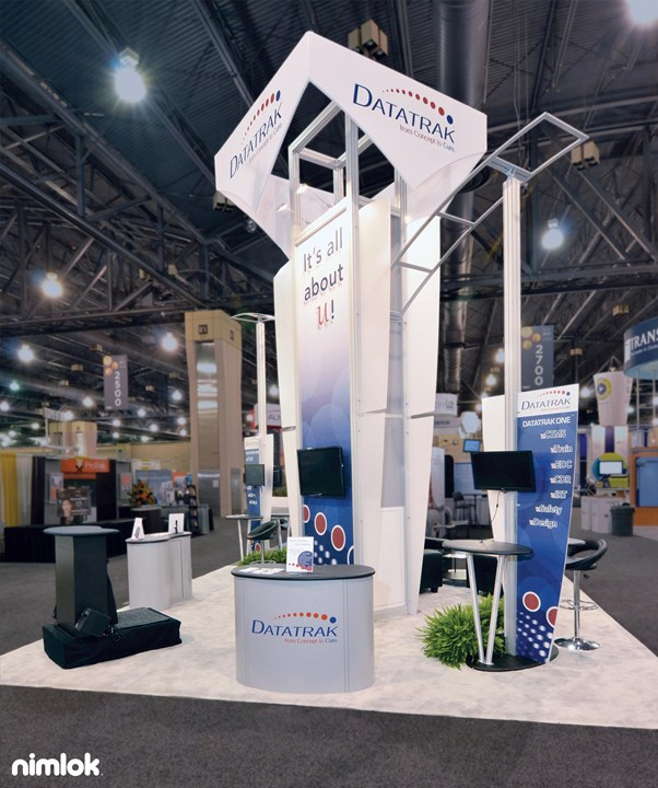 Datatrak International - 20x20 - custom modular exhibit