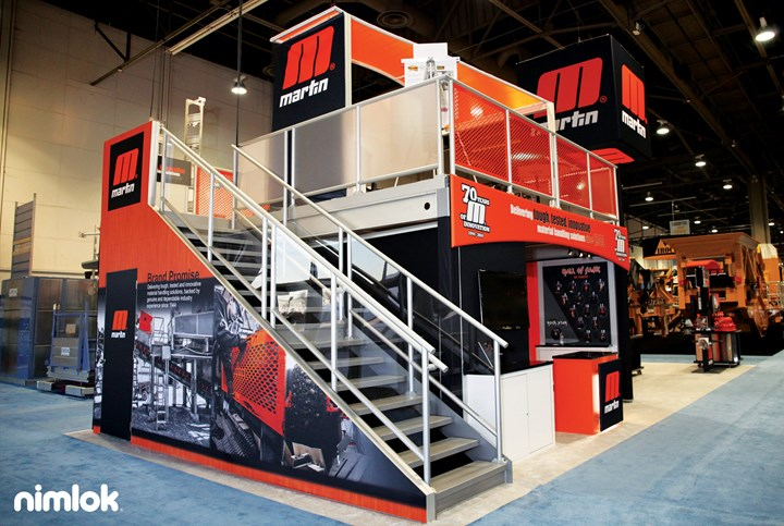 Martin Engineering - 20x45 - custom exhibit