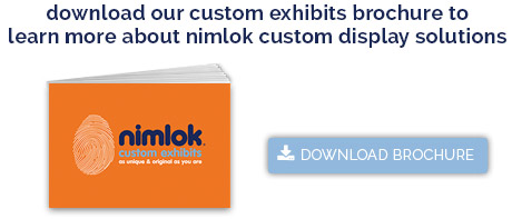 Custom trade show exhibits button
