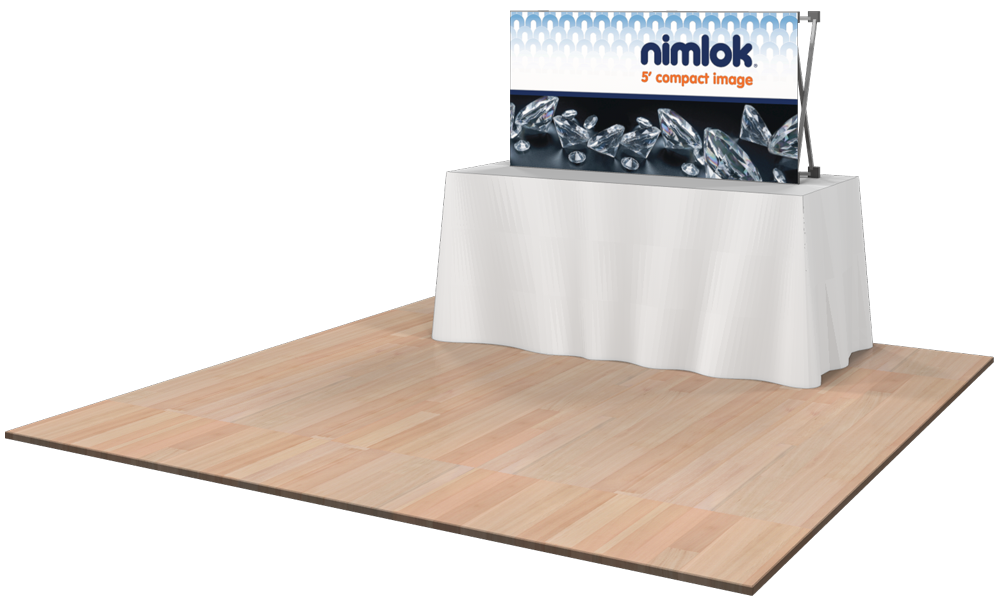 Tension Fabric Exhibition Stands : Compact image ft tabletop collapsible display nimlok