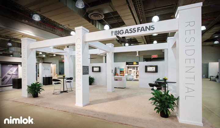 Big Ass Fans - 30x30 - trade show exhibit