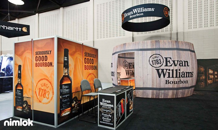 Evan Williams Bourbon - 20x20 - trade show exhibit