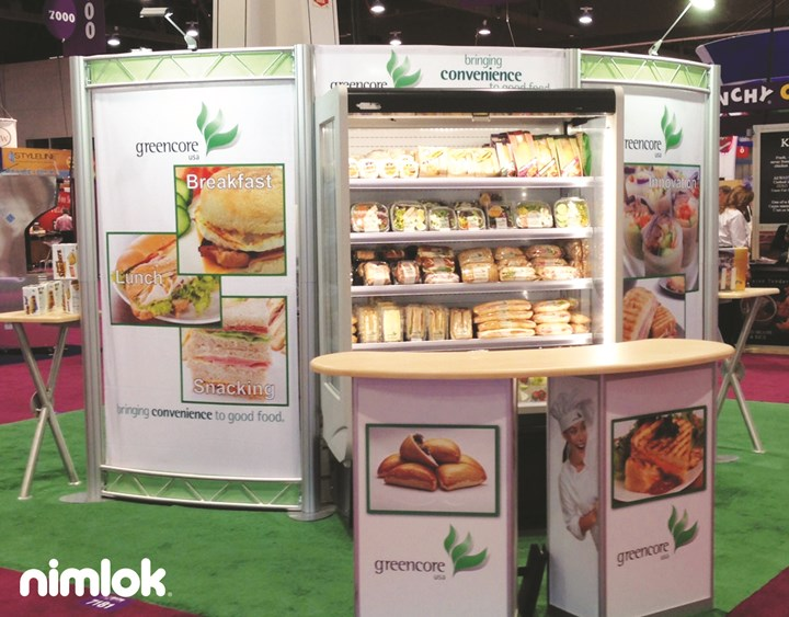 Nimlok Maine Custom Trade Show Exhibit Example