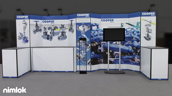 Cooper Valves - 10x20 - trade show exhibit