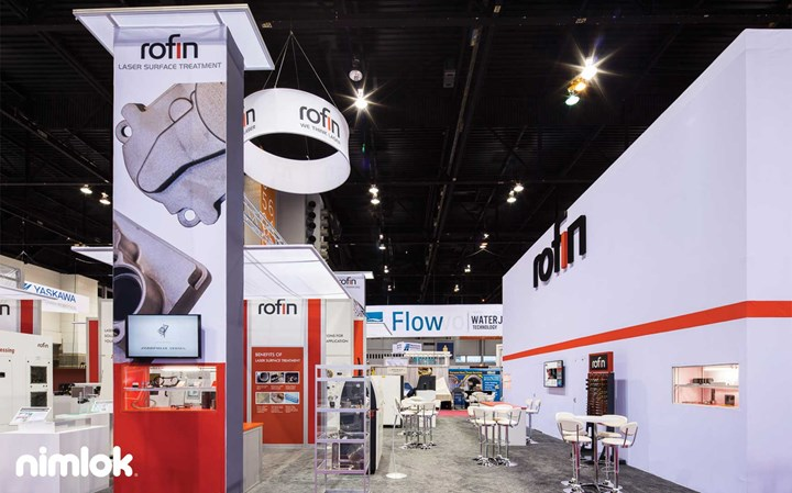Rofin - 40x40 - trade show exhibit