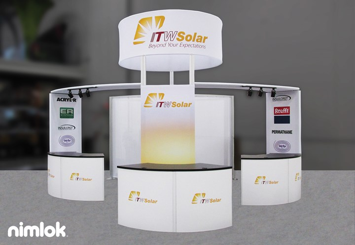 ITWSolar - 20x20 - trade show exhibit