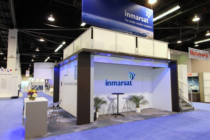 Inmarsat - 20x20 - trade show exhibit