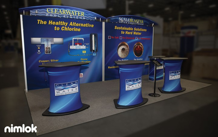 Clearwater Enviro Technologies - 10x10 - trade show exhibit