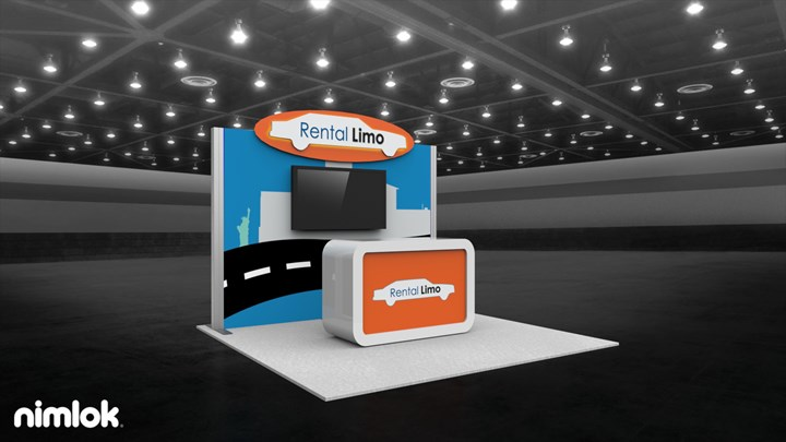 Rental Limo - 10x10 - trade show exhibit