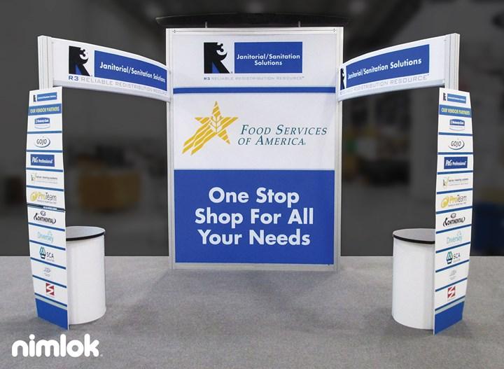 Food Services of America - 10x20 - trade show exhibit