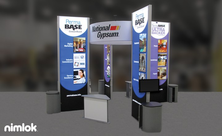 National Gypsum - 20x20 - trade show exhibit