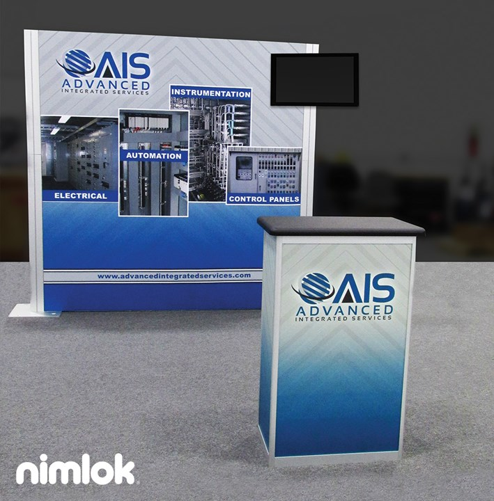 Advanced Integrated Services - 10x10 - trade show exhibit