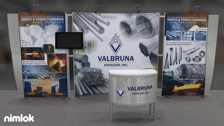 Valbruan Stainless - 10x20 - trade show exhibit