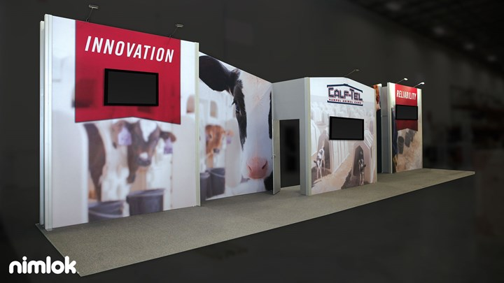 Hampel - 10x40 - trade show exhibit