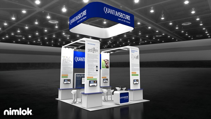 Quantum Secure - 20x20 - trade show exhibit