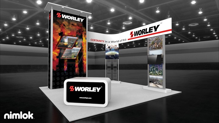 Worley - 20x20 - trade show exhibit