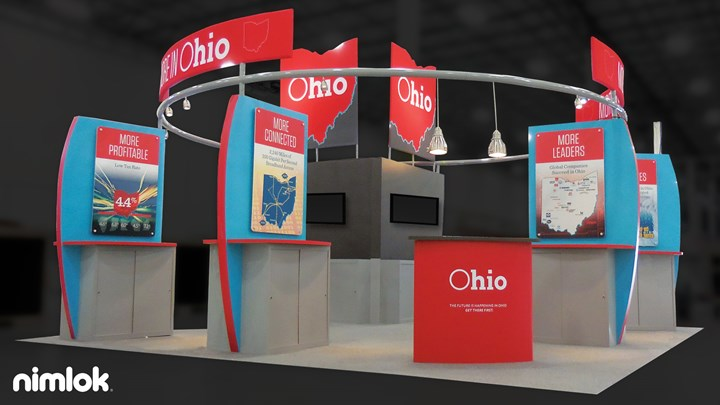 Ohio Jobs - 20x20 - trade show exhibit