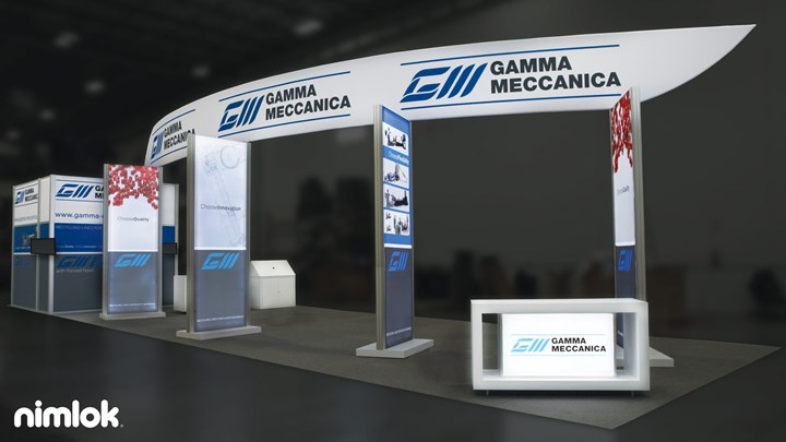 Gamma Meccanica - 20x60 - trade show exhibit