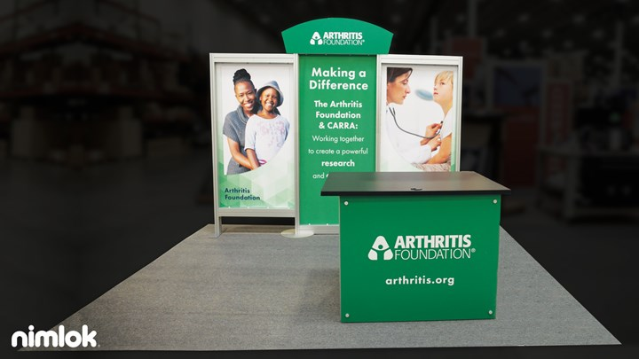 Arthritis Foundation - 10x10 - trade show exhibit
