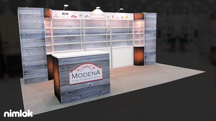 Modena Fine Foods - 10x20 - trade show exhibit
