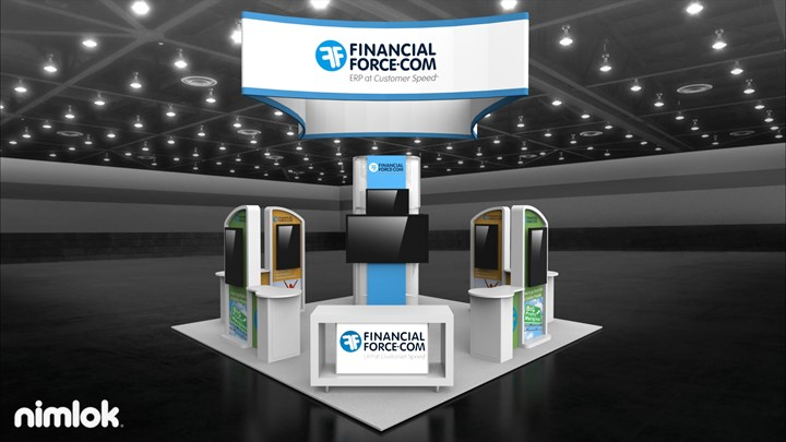 Financial Force - 20x20 - trade show exhibit
