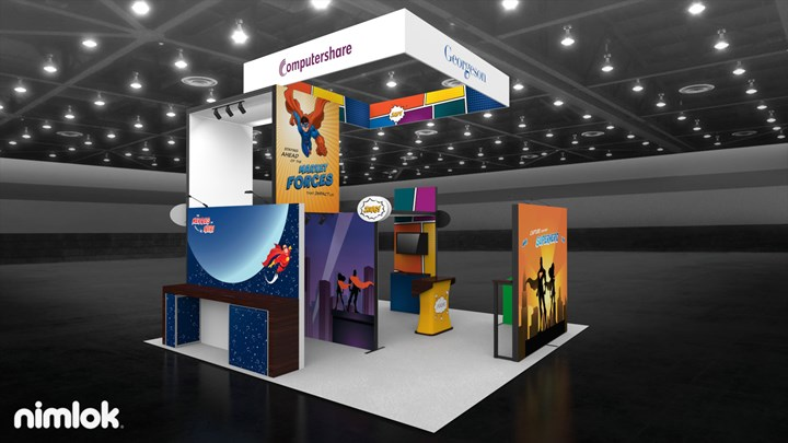 Computershare - 20x20 - trade show exhibit