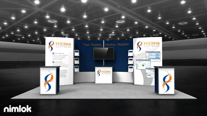 Systema Software - 10x20 - trade show exhibit
