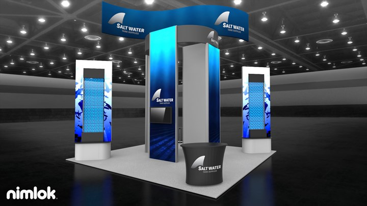 Salt Water Tank Supplies - 20x40 - trade show exhibit