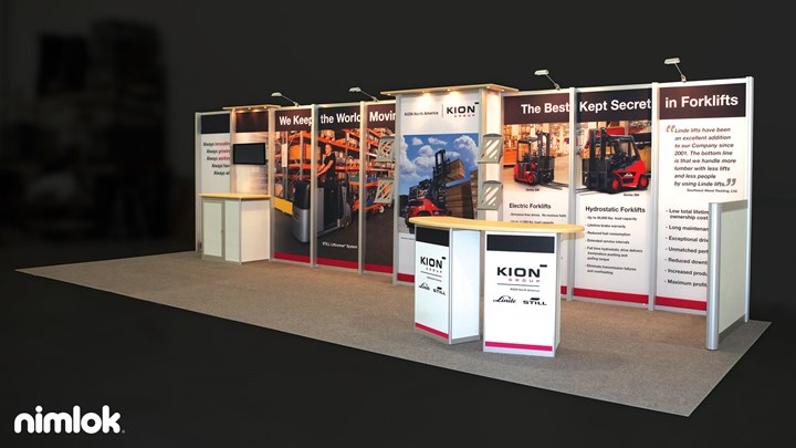 Kion Group - 10x30 - trade show exhibit