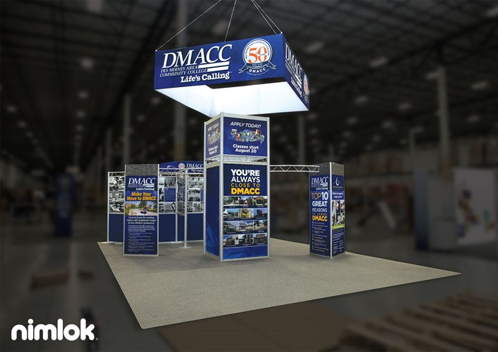 DMACC - 20x20 - trade show exhibit