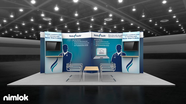 Note Swift - 10x20 - trade show exhibit