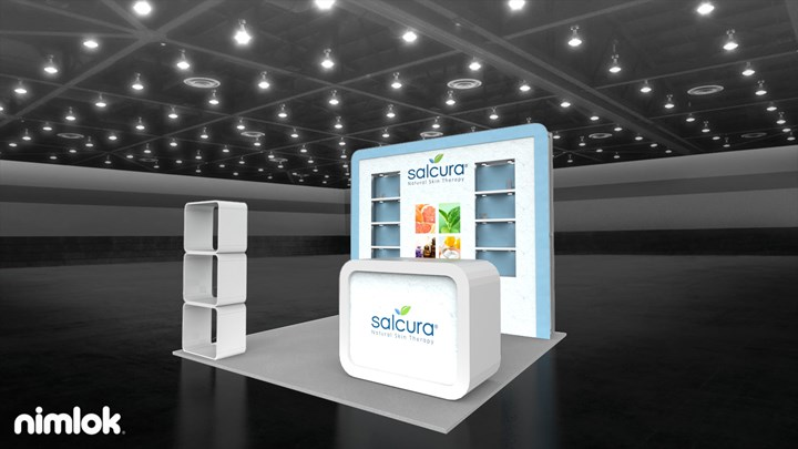 Salcura Naturals - 10x10 - trade show exhibit