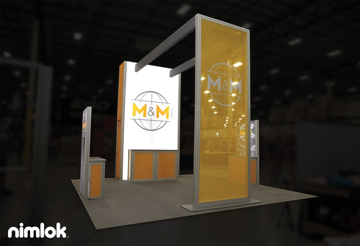 M&M Intl - 20x20 - trade show exhibit
