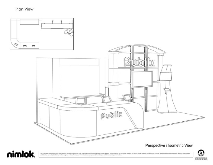 Publix - 10x30 - trade show exhibit