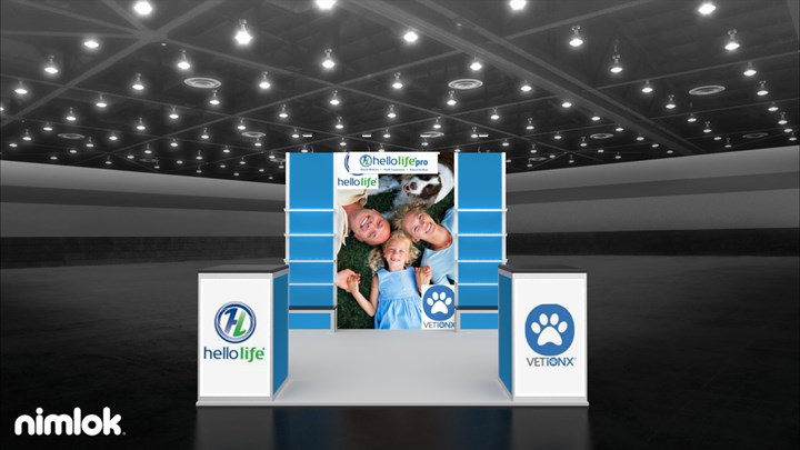 HelloLife - 10x10 - trade show exhibit